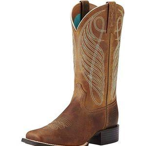 Ariat square toe cowboy boots